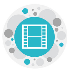 of movie symbol on frame tape vector image