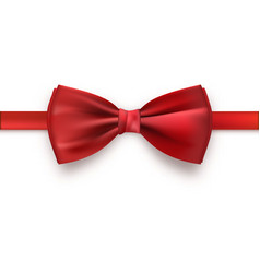 realistic red bow tie vector image