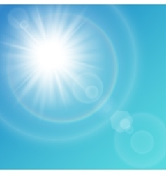 white sun with light effects vector image