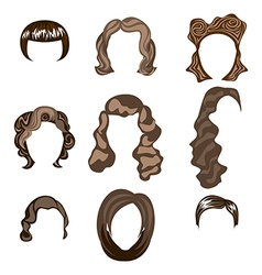 woman man hair hairstyle silhouette vector image