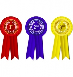 award rosettes vector image vector image