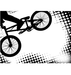 bmx background vector image