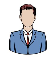 businessman icon cartoon vector image vector image