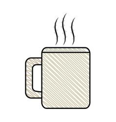 coffee mug beverage break vector image