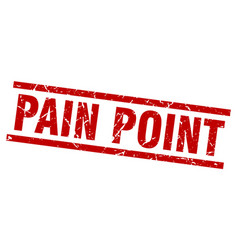 Square grunge red pain point stamp vector