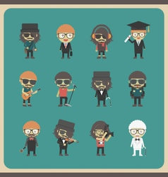 272all hipster character vector image