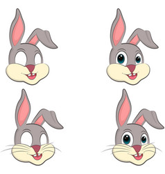 A cartoon bunny s head vector