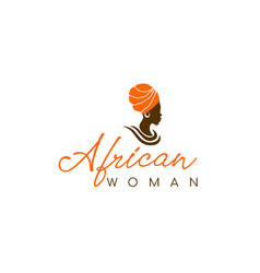 african woman logo design vector image