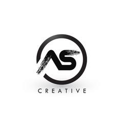 as brush letter logo design creative brushed vector image