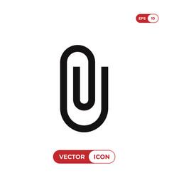 Attach icon paper clipattachment symbol vector
