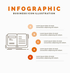 Author book open story storytelling infographics vector