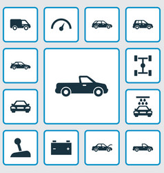 Automobile icons set collection of crossover vector