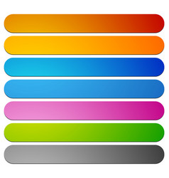 Banner button plaque shapes elements in 7 color vector