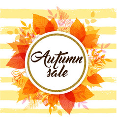 banner for seasonal fall sale vector image