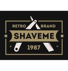 Barber shop vintage isolated label vector