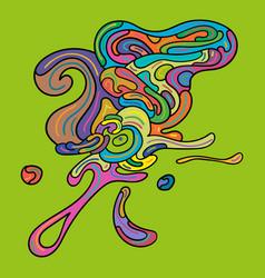 Basic rgb doodle art bubble vector