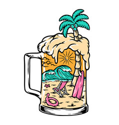 beer and beach vector image