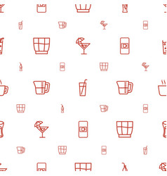 beverage icons pattern seamless white background vector image