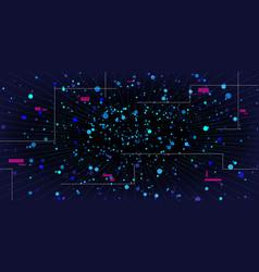 big data visualization abstract stream data vector image