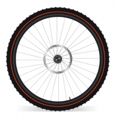 Bike wheel vector