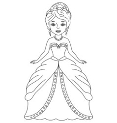 Black and White Princess vector image