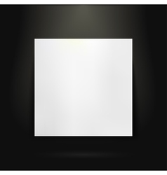 Blank presentation board in showroom vector