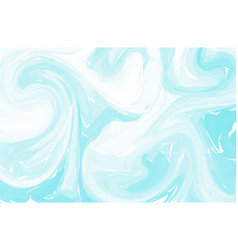 Blue sea water flow abstract turquoise background vector