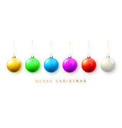 blue white green yellow and red christmas ball vector image