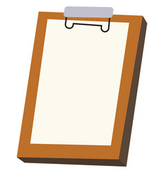 board for notes on white background vector image