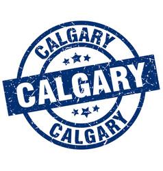 Calgary blue round grunge stamp vector