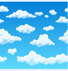 cloud seamless background endless cartoon vector image