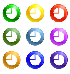 coin stack icons set vector image