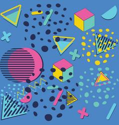 colorful vintage geometric patterns vector image