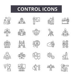 Control line icons for web and mobile design vector