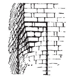 Corbel medieval architecture vintage engraving vector