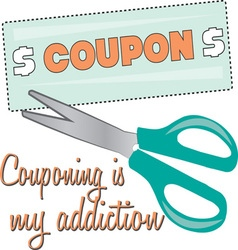 Couponing Is My Addiction vector