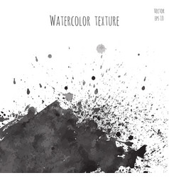 dark black watercolor texture vector image