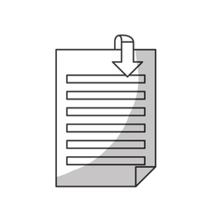 document paper icon image vector image