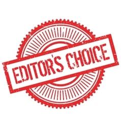Editor choice stamp vector