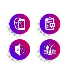 eye checklist face biometrics and uv protection vector image