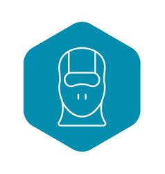 Face balaclava icon outline style vector