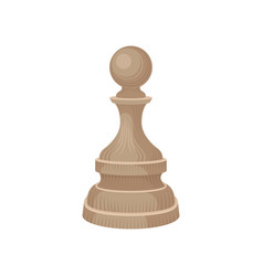 Flat icon of wooden chess piece - pawn vector