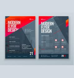 flyer design dark red modern flyer background vector image
