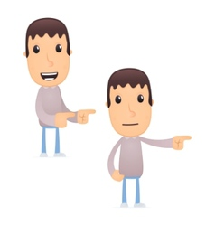funny cartoon guy vector image