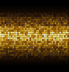 gold mosaic background on black abstract vector image