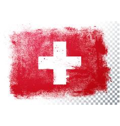 Grunge and distressed flag switzerland vector
