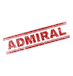 Grunge textured admiral stamp seal vector