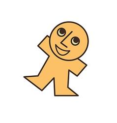 happy yellow man vector image