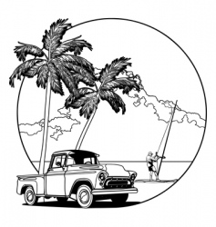 Hawaiian scene vector