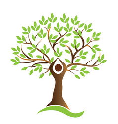 Healthy life tree human symbol vector
